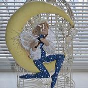Для дома и интерьера ручной работы. Ярмарка Мастеров - ручная работа Ангел на Луне. Ноктюрн на флейте.. Handmade.