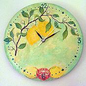 Для дома и интерьера ручной работы. Ярмарка Мастеров - ручная работа Часы - Лимоны. Handmade.