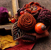 Украшения handmade. Livemaster - original item The brooch is Enjoying autumn. Handmade.
