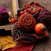 Украшения ручной работы. Ярмарка Мастеров - ручная работа Брошь Наслаждаясь осенью. Handmade.