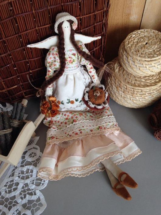 """Куклы Тильды ручной работы. Ярмарка Мастеров - ручная работа. Купить Тильда Аида- """" Ангел Урожая"""". Handmade. Тильда"""