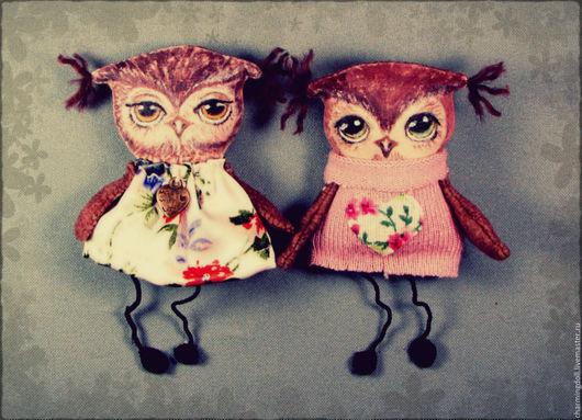 """Броши ручной работы. Ярмарка Мастеров - ручная работа. Купить Брошь текстильная """"Совушка"""". Handmade. Брошь, брошка, сувенир, совушки"""