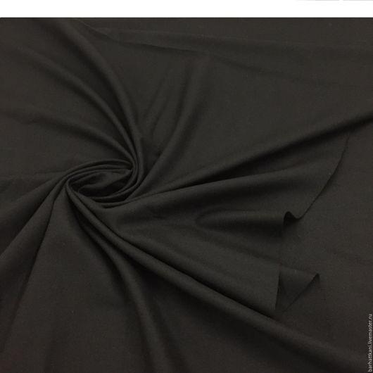 Шитье ручной работы. Ярмарка Мастеров - ручная работа. Купить -20% Итальянская плательно -костюмная шерсть. Handmade. Черный