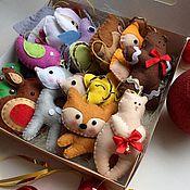 Куклы и игрушки ручной работы. Ярмарка Мастеров - ручная работа Набор игрушек из фетра. Handmade.