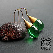 """Украшения handmade. Livemaster - original item Серьги чешское стекло """"Капли разные цвета"""". Handmade."""