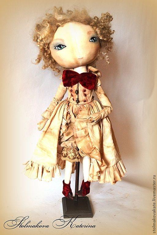 Коллекционные куклы ручной работы. Ярмарка Мастеров - ручная работа. Купить Olivia. Handmade. Бордовый, винтаж, металлическая фурнитура