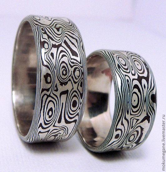 Кольца ручной работы. Ярмарка Мастеров - ручная работа. Купить Обручальные кольца мокуме-гане. Handmade. Кольца, мокуме гане