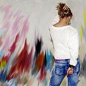 """Одежда ручной работы. Ярмарка Мастеров - ручная работа Свитер """"Белое вдохновение"""". Handmade."""