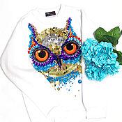 Одежда handmade. Livemaster - original item t-shirt cotton luminous owl. Handmade.