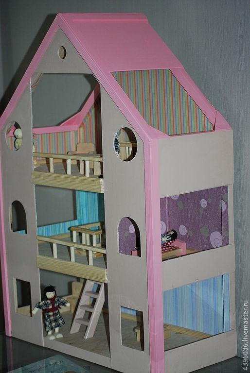 Кукольный дом ручной работы. Ярмарка Мастеров - ручная работа. Купить кукольный домик. Handmade. Дерево, кукольный дом