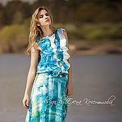 Одежда ручной работы. Ярмарка Мастеров - ручная работа Шёлковое летнее платье. Handmade.