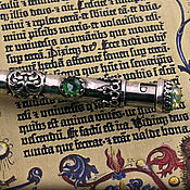 """Канцелярские товары ручной работы. Ярмарка Мастеров - ручная работа Серебряная ручка """"Талло"""". Handmade."""