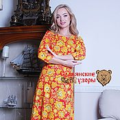Одежда handmade. Livemaster - original item Cotton dress in the floor