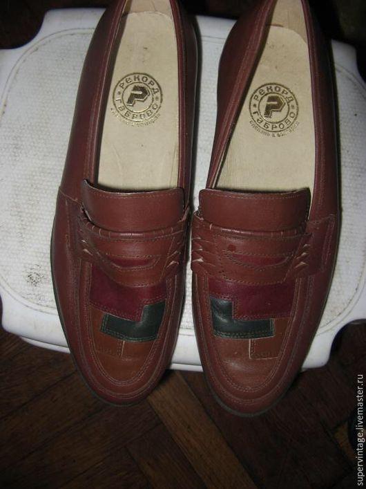 Винтажная обувь. Ярмарка Мастеров - ручная работа. Купить Новые мужские туфли, Болгария , винтаж. Handmade. Коричневый, кожаные туфли