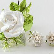 """Свадебный салон ручной работы. Ярмарка Мастеров - ручная работа Комплект """"Свежесть """" ( с белыми розами). Handmade."""