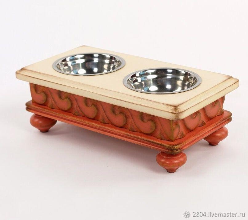 Аксессуары для собак, ручной работы. Ярмарка Мастеров - ручная работа. Купить Подставка под миски. Мебель для собак и кошек. Handmade.