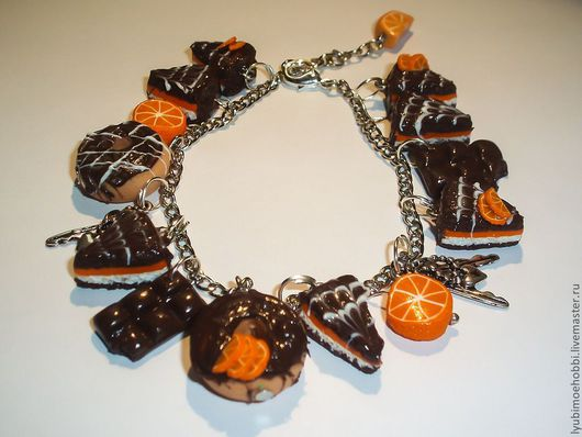 """Браслеты ручной работы. Ярмарка Мастеров - ручная работа. Купить Браслет """"Апельсины и шоколад"""". Handmade. Браслет, Браслет ручной работы"""