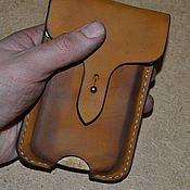 Чехол ручной работы. Ярмарка Мастеров - ручная работа Чехол из шорно седельной кожи для iPhone3. Handmade.