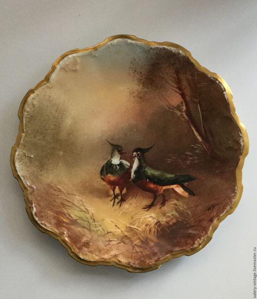 Винтажная посуда. Ярмарка Мастеров - ручная работа. Купить Антикварная кабинетная тарелка Limoges 1920-1925г.. Handmade. Комбинированный, фарфор