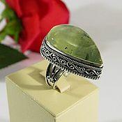 Украшения handmade. Livemaster - original item Ring with Prehnite, natural stone. ( ПР6). Handmade.