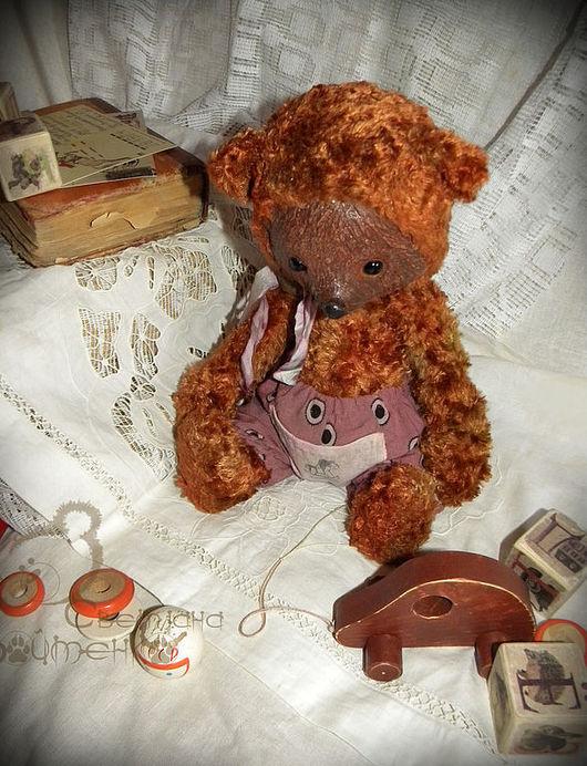Мишки Тедди ручной работы. Ярмарка Мастеров - ручная работа. Купить Мишка Петрусь(33 см). Handmade. Мишка, плюш
