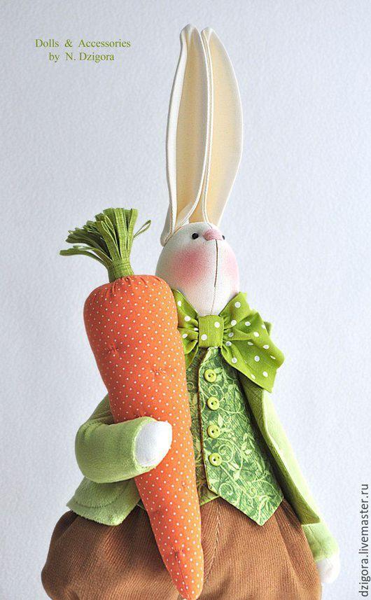 Игрушки животные, ручной работы. Ярмарка Мастеров - ручная работа. Купить Морковочкин. Текстильная игрушка заяц, заяц в подарок. Handmade.