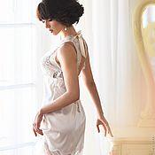 """Одежда ручной работы. Ярмарка Мастеров - ручная работа """"Искушение нежностью"""" - нежная сорочка с кружевом. Handmade."""