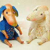 Куклы и игрушки ручной работы. Ярмарка Мастеров - ручная работа Щенки Улька и Милка. Handmade.