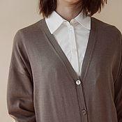 Одежда handmade. Livemaster - original item Cashmere cardigan knitted with buttons. Handmade.