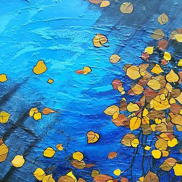 Картины и панно ручной работы. Ярмарка Мастеров - ручная работа Картины: В городе осень. Handmade.