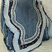 Сумки и аксессуары ручной работы. Ярмарка Мастеров - ручная работа джинсовая сумка-удача. Handmade.