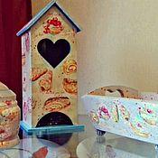 Для дома и интерьера ручной работы. Ярмарка <i>домик</i> Мастеров - ручная работа Чайный домик. Handmade.