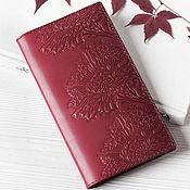 Сумки и аксессуары handmade. Livemaster - original item Wallet purse leather Red Burgundy. Handmade.