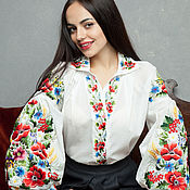 """Одежда ручной работы. Ярмарка Мастеров - ручная работа Вышитая блуза вышиванка """"Дивная красота"""" ручная вышивка. Handmade."""