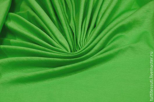 Шитье ручной работы. Ярмарка Мастеров - ручная работа. Купить Трикотаж 03-300-0076. Handmade. Ярко-зелёный, футболки