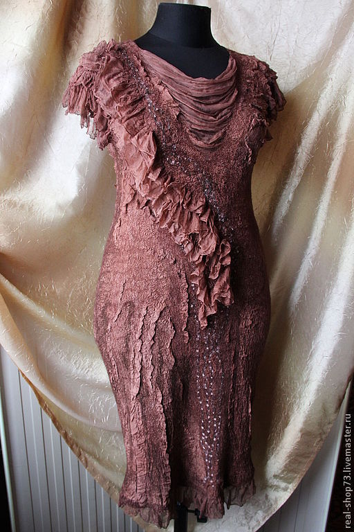 Платья ручной работы. Ярмарка Мастеров - ручная работа. Купить Валяное платье Lady Charm. Handmade. Абстрактный, Мокрое валяние