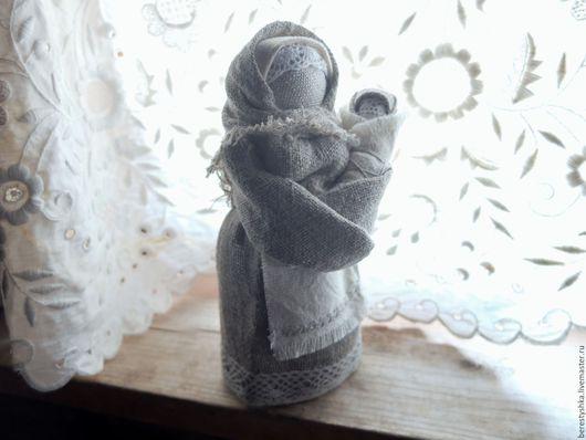 Народные куклы ручной работы. Ярмарка Мастеров - ручная работа. Купить Приглашение дитя в семью. Handmade. Подарок женщине, лён