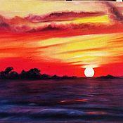 Картины и панно handmade. Livemaster - original item oil painting sunset.. Handmade.