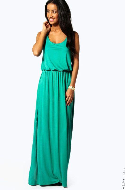 Платья ручной работы. Ярмарка Мастеров - ручная работа. Купить Rainbow maxi dress in emerald SALE. Handmade. Зеленый