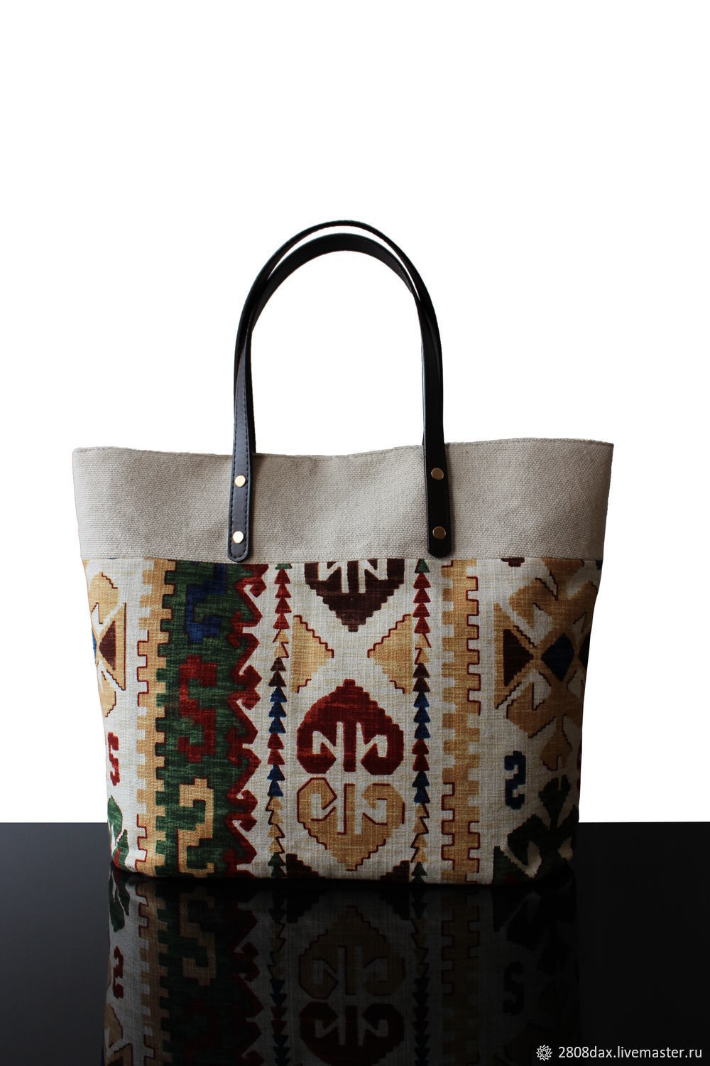 Tote: Comfortable Light canvas and tapestry bag, Tote Bag, Bordeaux,  Фото №1