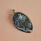 Украшения handmade. Livemaster - original item Pendant from a slice of Ammonite pyrite