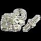 Для украшений ручной работы. Ярмарка Мастеров - ручная работа. Купить Замок Кленовый лист под светлое серебро 31х21 мм. Handmade.