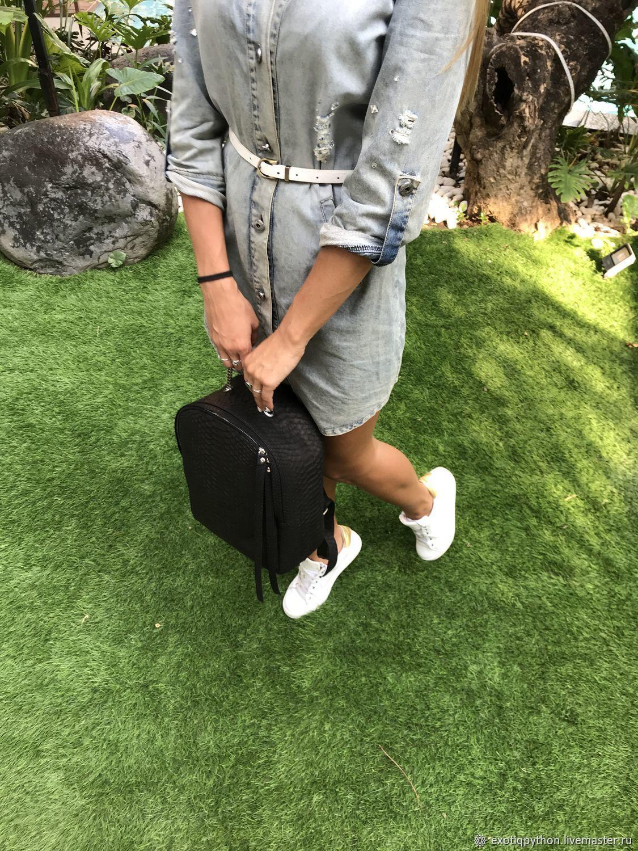 Рюкзак из кожи питона Geos – купить в интернет-магазине на Ярмарке Мастеров  с доставкой - HFZEXRU | Москва