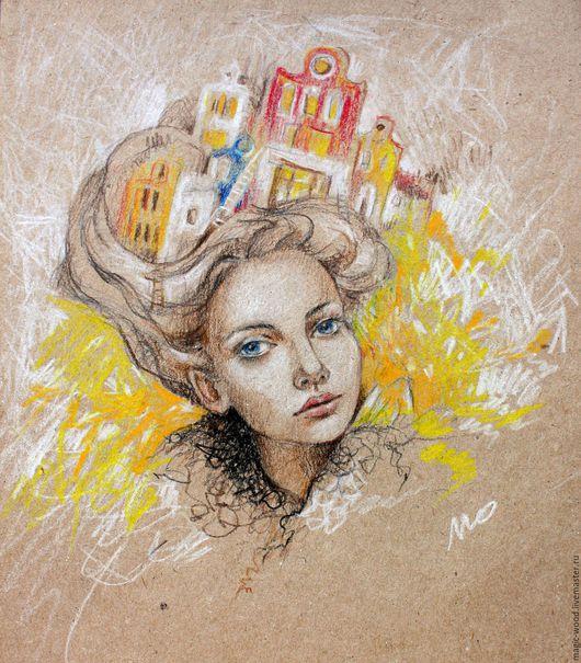 """Люди, ручной работы. Ярмарка Мастеров - ручная работа. Купить """"В мире художника не существует границ"""". Handmade. Комбинированный, портрет"""