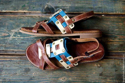 """Обувь ручной работы. Ярмарка Мастеров - ручная работа. Купить плетёнка """"голубые ели """". Handmade. Коричневый, обувь цветная"""