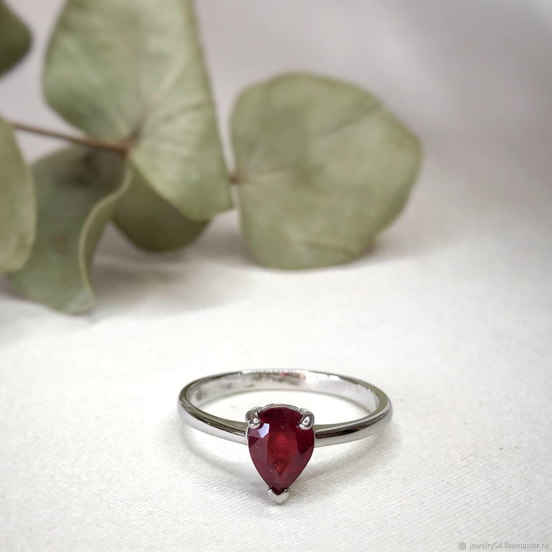 Серебряное кольцо с рубином, Кольца, Новосибирск,  Фото №1