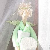 Куклы и игрушки ручной работы. Ярмарка Мастеров - ручная работа Хранительница ватных палочек и дисков. Handmade.