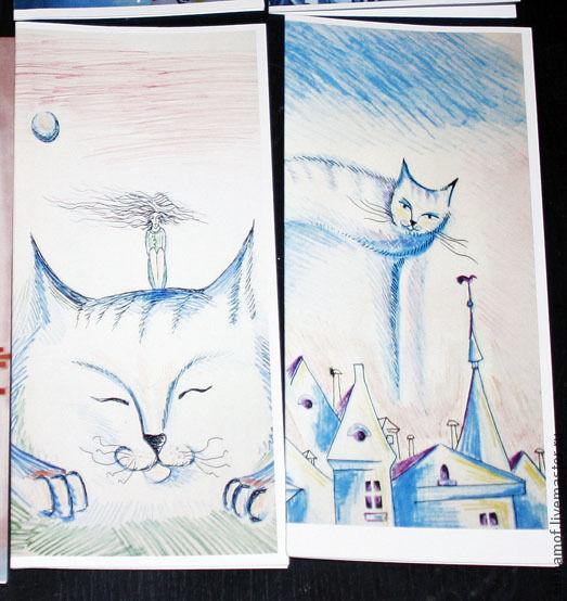 Открытки на все случаи жизни ручной работы. Ярмарка Мастеров - ручная работа. Купить Открытка Коты. Handmade. Открытка, коты, печать