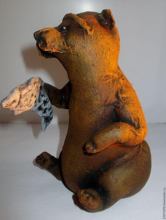Куклы и игрушки ручной работы. Ярмарка Мастеров - ручная работа. Купить сувенир - медведь Михаил. Handmade. Коричневый, подарок, бязь
