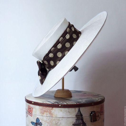 """Шляпы ручной работы. Ярмарка Мастеров - ручная работа. Купить Шляпка летняя по мотивам фильма """"Красотка"""". Handmade. Белый"""